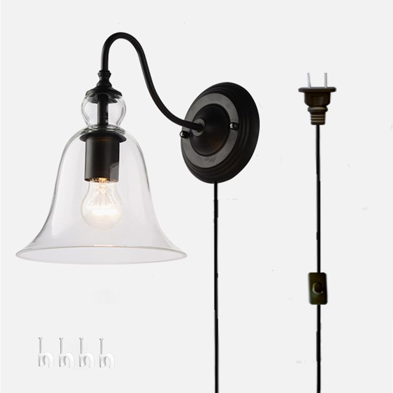 Kiven Wall Lamp 1 Light Plug In Bulb