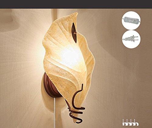 Kiven Wall Lamp Bedside Simple Light Yellow Handmade